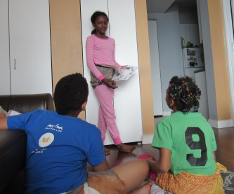 Jayda sharing her vision board